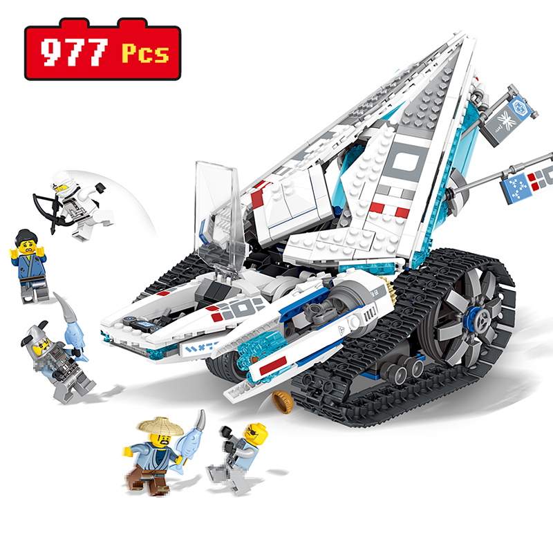 977PCS Ice Ninjago high-tech ice tank Assembly Building Blocks Develop intelligence Educational toys For Kids Best Gift brand new yuxin zhisheng huanglong high bright stickerless 9x9x9 speed magic cube puzzle game cubes educational toys for kids