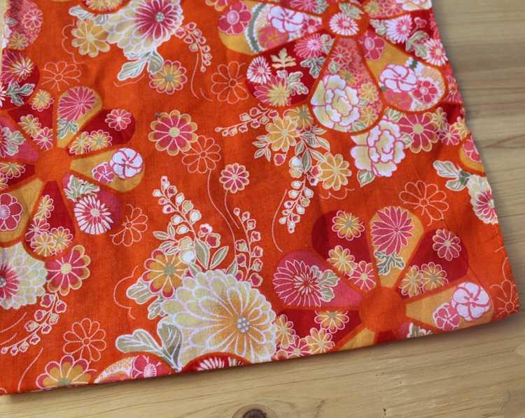 Lenço estilo japonês furoshiki cotton100 %/flor impresso 52 cm/Muitos Usos