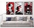 Japan Rubin Geisha Koi Fisch Panda Samurai Sushi Katze Poster Leinwand Kunstdrucke Malerei Wand Bild für Kinder Wohnzimmer decor-in Malerei und Kalligraphie aus Heim und Garten bei
