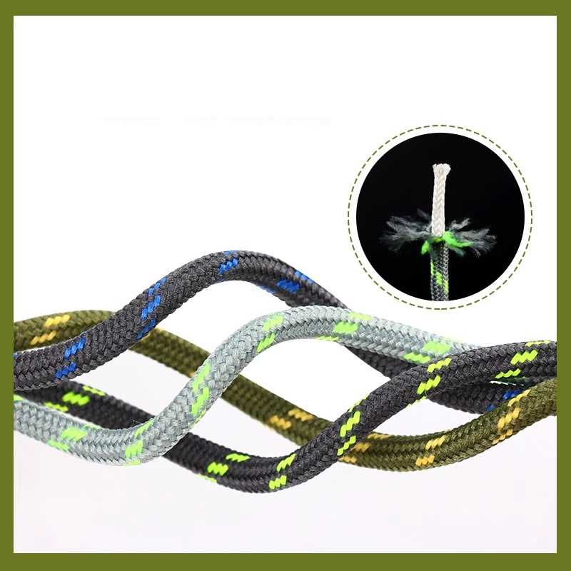 Outdoor Hiking Shoelaces Round Shoe laces High density weaving Fine Texture Martin boots Black and White Shoelace Unisex 1 Pair