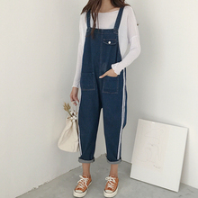 Фотография Autumn Korean Style Loose Slim All-match Denim Jumpsuits Casual Ankle Length Harem Female Jumpsuits Simple Individual Jumpsuits
