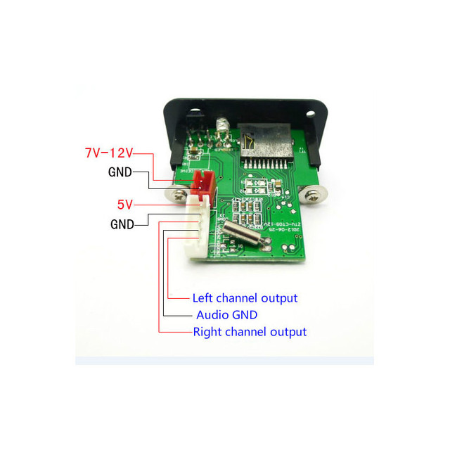 AIYIMA Mini 12V MP3 Audio Decoder Board Lossless Decoding MP3 Player Stereo Two-channel Audio Output Support TF Card U Disk