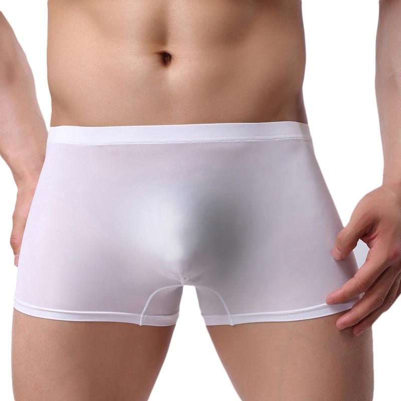 Thin Transparent Ice Silk Seamless Sexy Men Underwear Men Boxer Shorts Men's Underpants Cueca Boxer Homme Calzoncillos Hombre
