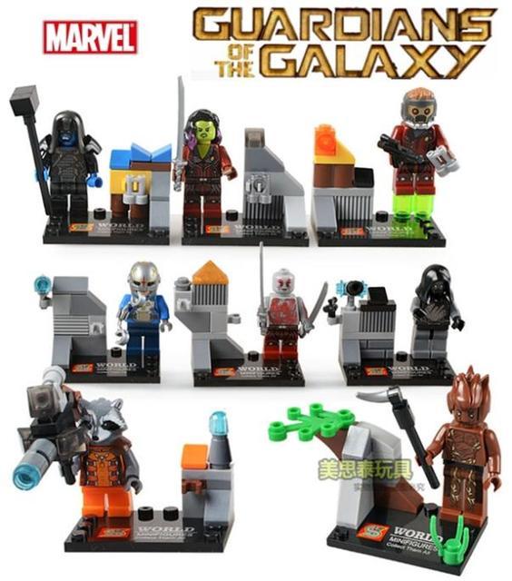 Guardians Of The Galaxy Star Lord Ronan Drax Building Bricks Sets ...
