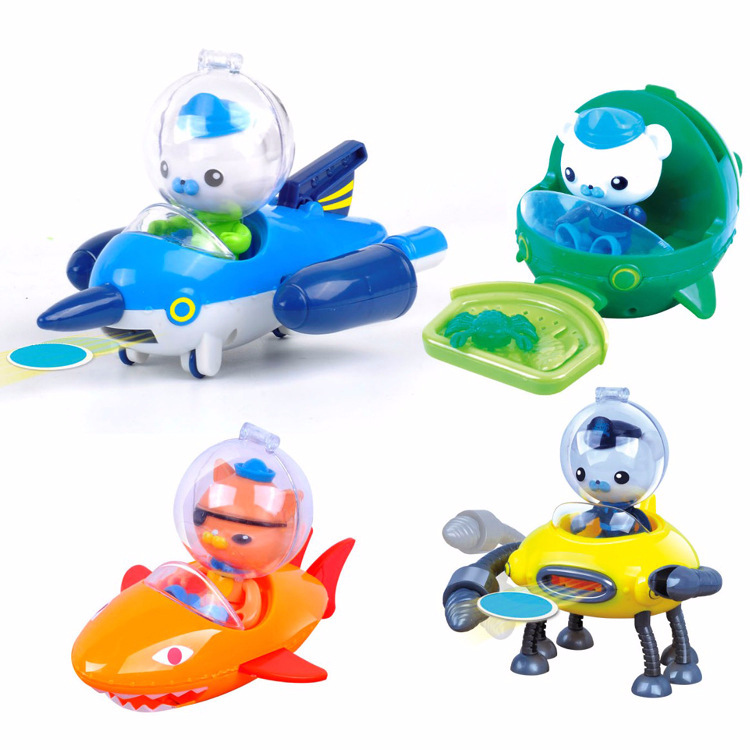 Action & Toy Figures Able Octonauts Toys Submarines Gup-a Boats Whale Boat With Figures Captain Barnacles Kwazi Baby New Year Gift
