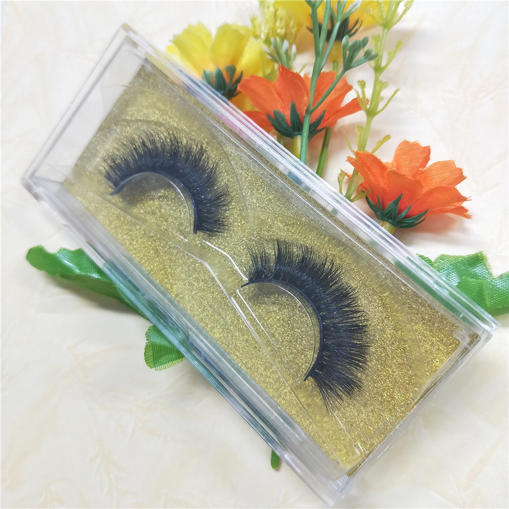 10 pairs 3D Mink lashes Plastic box Natural Long Thick false eyelashes Hand Made with clear band makeup tools free shipping