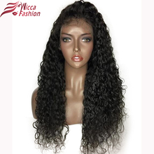 Dream Beauty 180% Density Lace Front Human Hair Wigs For Black Women Natural Color Brazilian Curly Non-Remy Hair 14-22 Inch