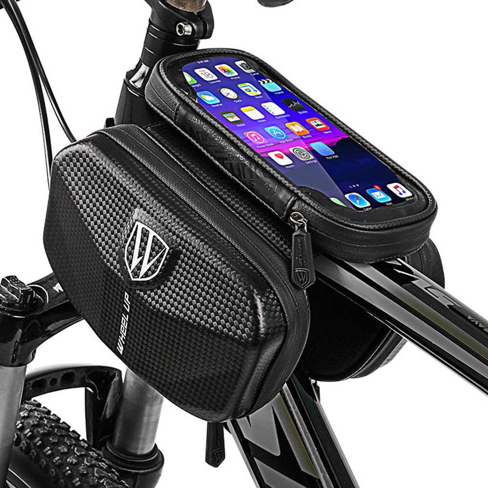 Waterproof Bicycle Frame Bags Bicycle Top Tube Front Beam Bag Anti Pressure