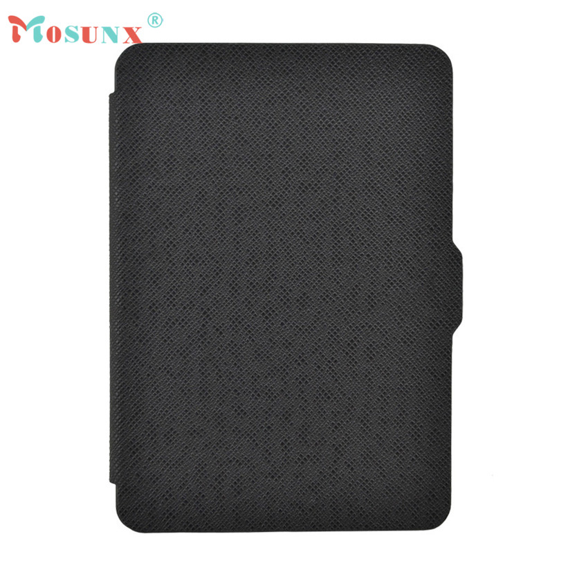 Hot-sale MOSUNX Magnetic Auto Sleep PU Leather Cover Case For Amazon Kindle Paperwhite 2016 (7th Generation) 6 inch Gifts