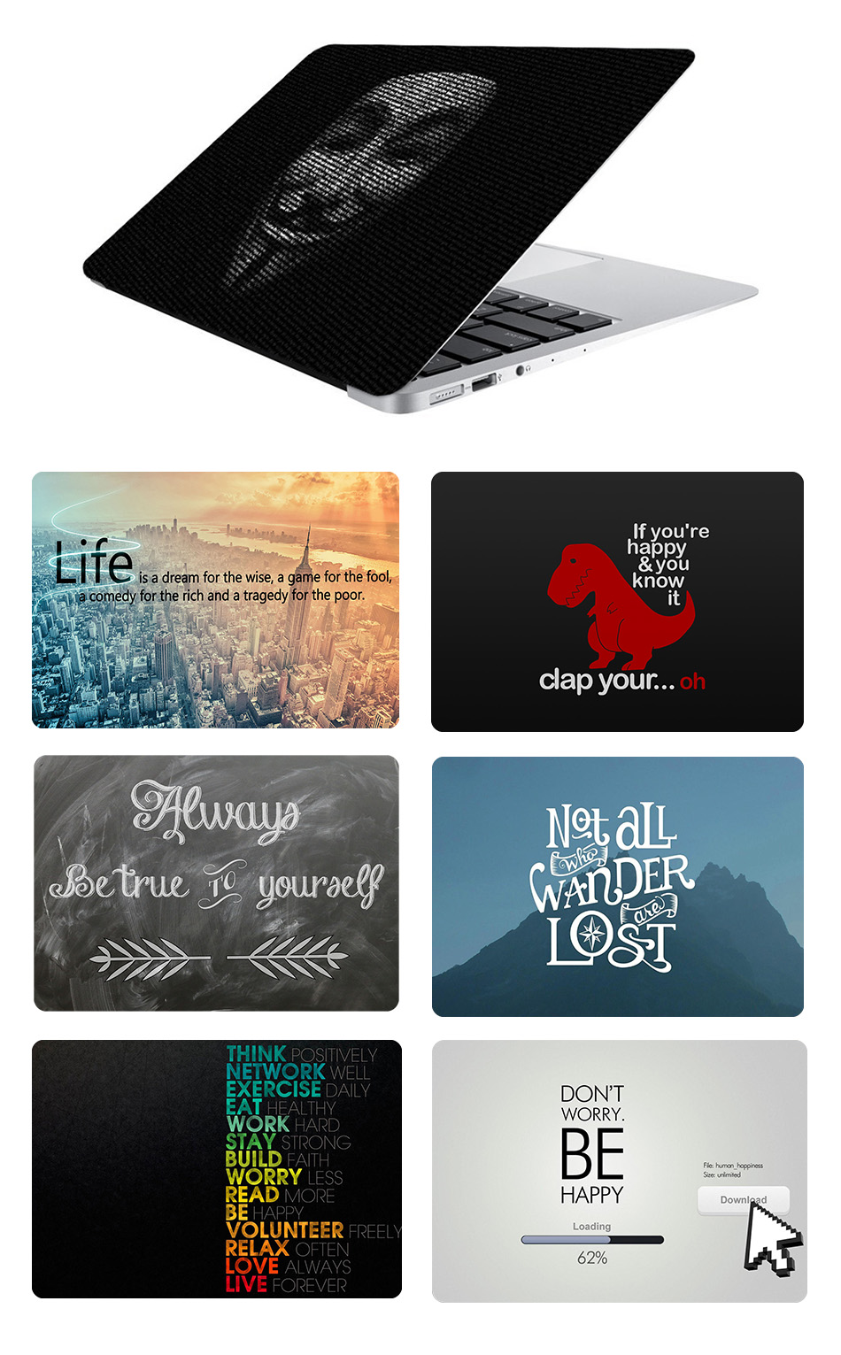 cb2303c559fd0 Inspired Quote Laptop Skin Sticker for Macbook Decal Pro Air Retina 11