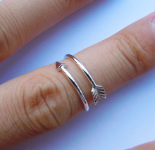 Wellmade Solid 925Sterling Silver Arrow Ring