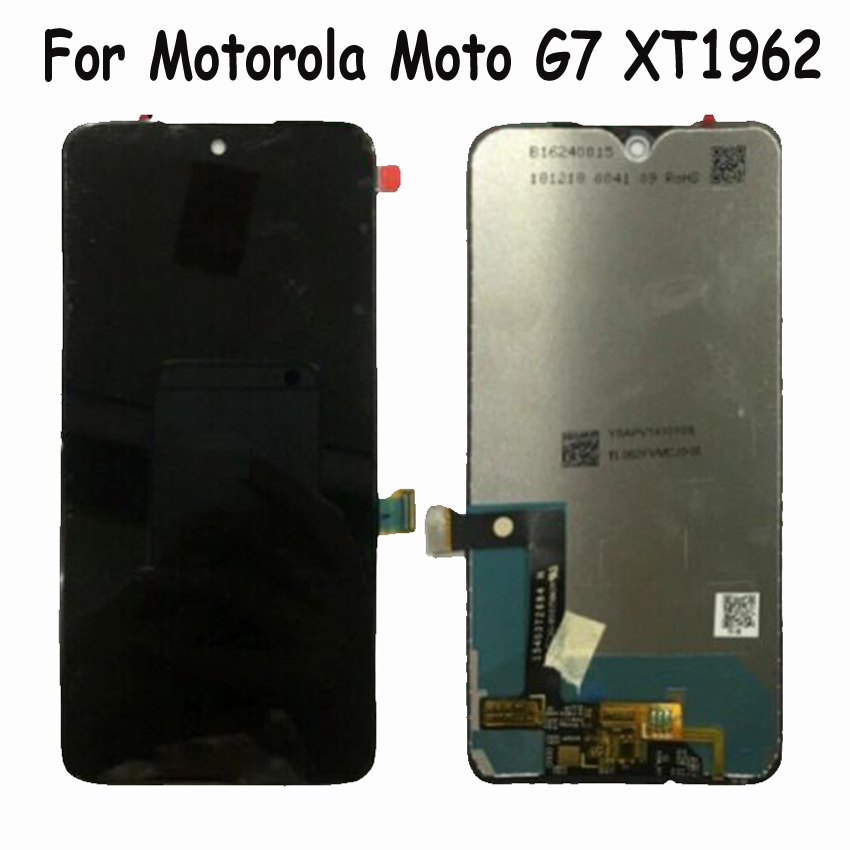 100% Tested Best Working For Motorola Moto G7 <font><b>XT1962</b></font> LCD Display Touch Screen Digiziter assembly Glass Sensor Phone Panel <font><b>Parts</b></font> image