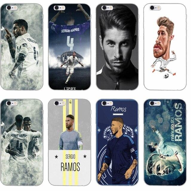 big sale 3e229 96c1f footballer Sergio Ramos SR4 Silicone TPU Soft phone case For Apple iPhone 4  4s 5 5s 5c SE 6 6s plus 7 7plus 8 8plus X
