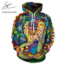 Fashion Autumn Regular Hooded Men/women 3d Sweatshirts With Cap Print Monkey Colorful Oil Painting Couple Hoodies