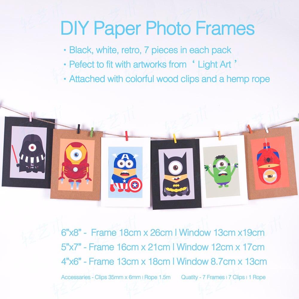 7 unids 5x7 6x8 papel fotográfico impresión de cartel imagen Marcos ...