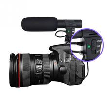 лучшая цена Stereo Camcorder Microphone for Nikon Canon DSLR Camera Computer Digital Video DV Camera Studio Stereo Mic #1102