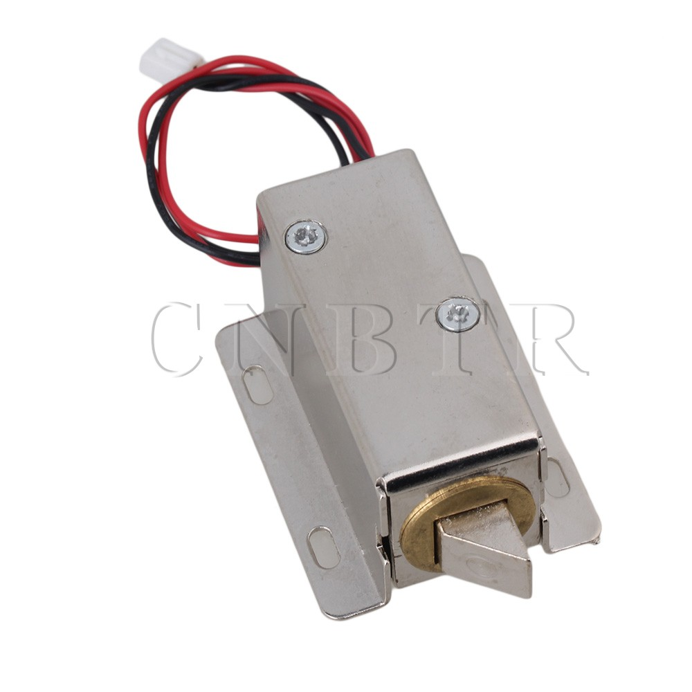 CNBTR 24V Cabinet Door Electric Lock Tongue Right Assembly Solenoid TFS-A22 dc 24v 0 77a door lock tubular electric solenoid coil