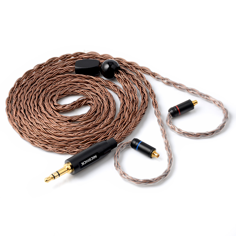 Hot NICEHCK 16 Core High Purity Copper Cable 3.5/2.5/4.4mm MMCX/2Pin Cable For TFZ TRN KZAS10/ZS10 CCAC16/C10 NICEHCK NX7/F3/M6