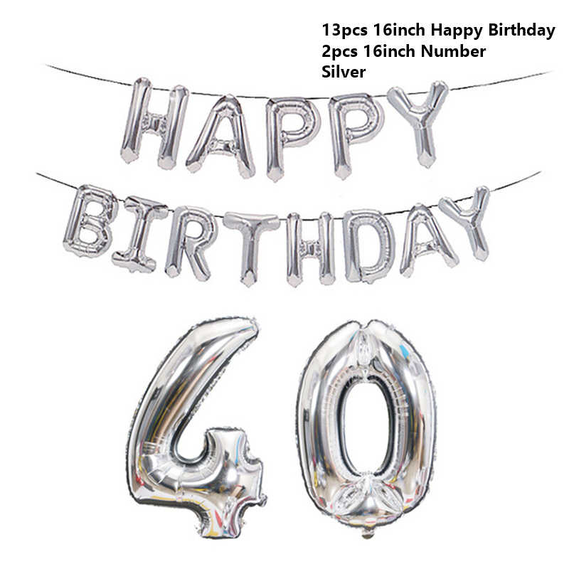 Nowy 60 50 30 18 lat balonik urodzinowy numer listu balon nadmuchiwany dekoracja urodzinowa balon dla dorosłych z okazji urodzin