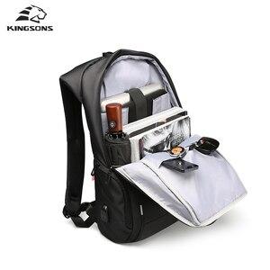 Image 4 - Kingsons mochila masculina antirroubo, mochila masculina de 13 15 e 17 para laptop viagem masculina moda
