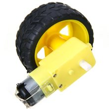1 Set / 2 Set DIY Smart Car Robot Chassis Kit Plastic Tire Wheel Tyre With DC 3-6V Gear Motor 65* 28mm Mayitr(China)