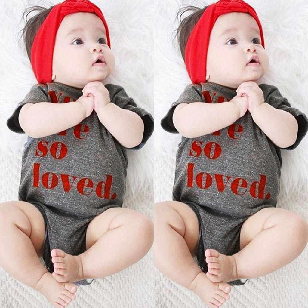 Одежда для малыша младенца новорожденного короткий рукав письмо детские комбинезоны с печатью новорожденных комбинезон Одежда для новорожденных дропшиппинг