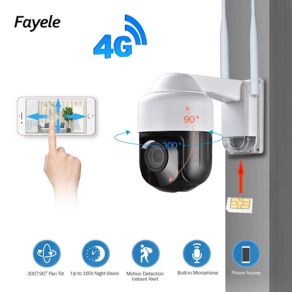 Sécurité 3G 4G caméra 1080 P panoramique inclinaison 4X Zoom laisser carte SIM sans fil WIFI PTZ IP caméra 2.8-12mm objectif grand angle IR 60 M P2P IP66