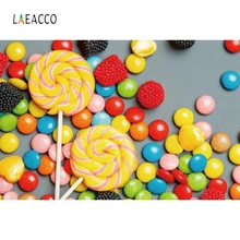 Laeacco Colorful Candy Baby Children Birthday Party Photography Backgrounds Customized Photographic Backdrops For Photo Studio kate newborn baby backdrops colorful chocolate beans photo sweet candy for children large size seamless photo