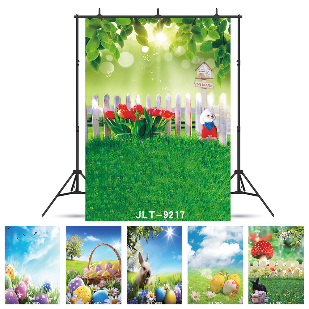 Photography Background Spring Grassland Toy Bears Customized Computer Printed Photo Backdrop For Photo Shooting Wedding Children Low Price Camera & Photo
