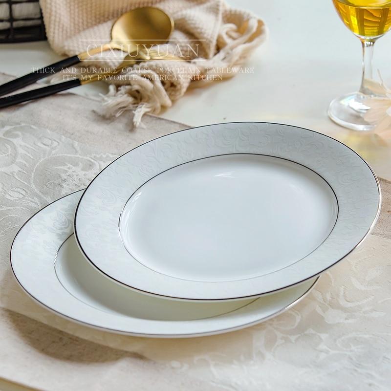New product 2015! 12 inch ceramic fish plate, white bone china steak dish, buffet serving fruit tray serveware