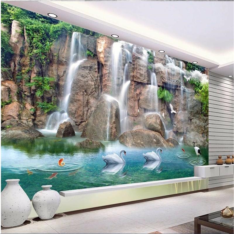 wallpaper-for-walls-3-d-wall-paper-Custom-wallpapers-large-murals-beautiful-fresh-water-3D-TV