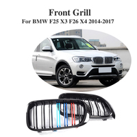 ABS Front Bumper Grille Cover Trim Accessories For BMW F25 X3 F26 X4 2014 2017
