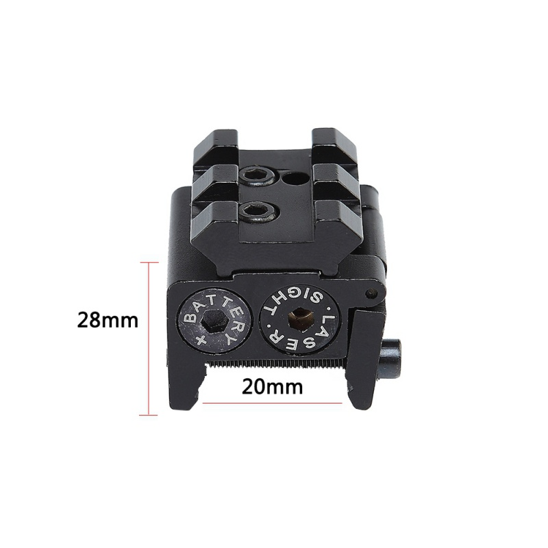 Image 2 - For Pistol Air gun Rifle Hunting Accessious Mini Adjustable Compact Red Dot Laser Sight With Detachable Picatinny 20mm Rail-in Hunting Gun Accessories from Sports & Entertainment