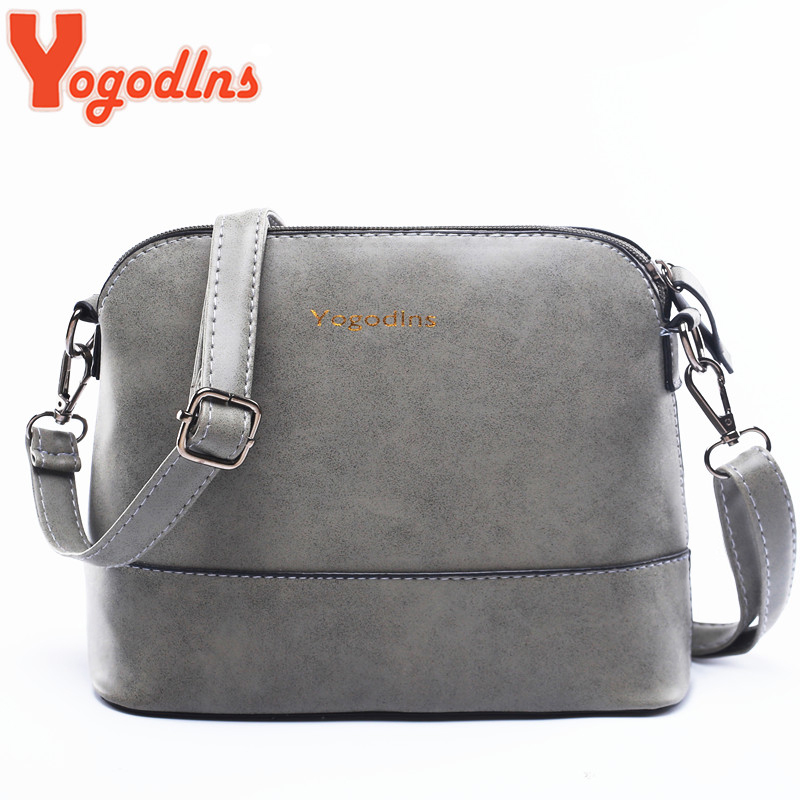 Yogodlns New Fashion Women's Messenger Bag Scrub Shell Bag Nubuck Leather Small Bags Over The Shoulder Women Purses And Handbags