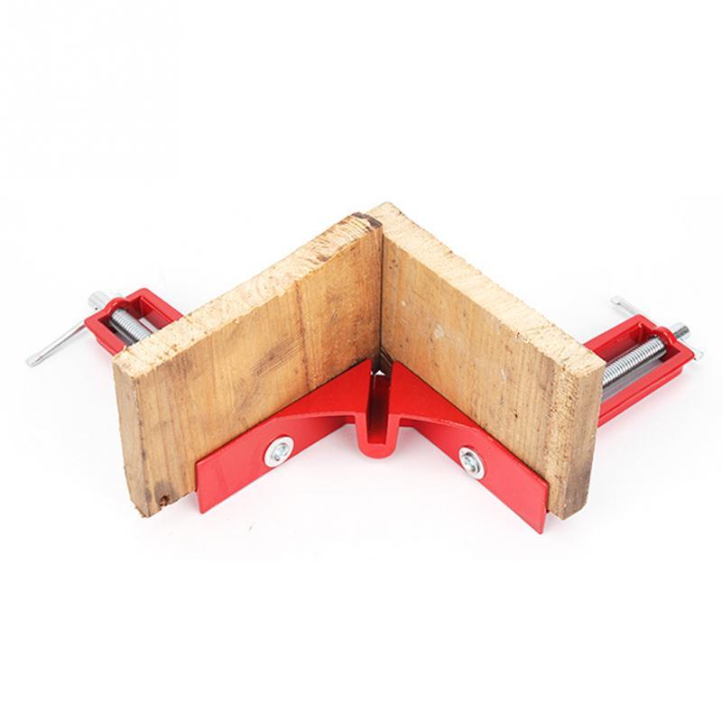 90 grados de ángulo recto abrazadera 100mm Mitre abrazaderas esquina abrazadera imagen titular madera 4 pulgadas ángulo recto abrazadera herramienta para trabajar la madera