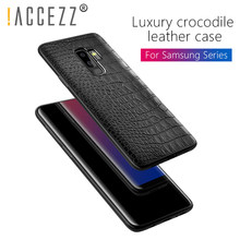 ! ACCEZZ Luxe Crocodile Snake Patroon Back Cover Cases Voor Samsung S8 S9 Plus Zachte PU Leather Shell Voor Samsung Note 8 Fundas(China)