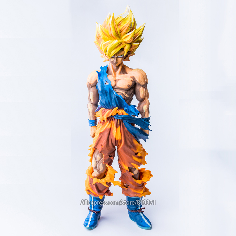 34cm DragonBall Z Master Stars Piece The Son Goku Super Saiyan Special Color ver. Dragon Ball Figure Action Figuras Juguete Toys