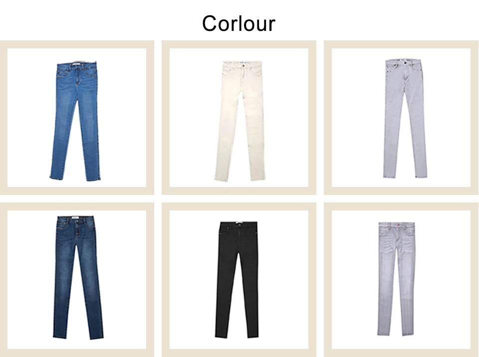 Autumn Winter Women Denim Skinny Pants Super Stretch Fake Front Pocket Waist Blue Grey Black White Slim Elastic Lady Jeans 37