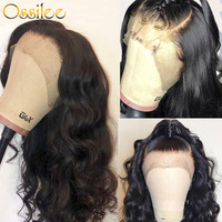 Body Wave Lace Front Human Hair Wigs Pre Plucked Lace Front Wig Human Hair Bleached Knots Lace Wigs Ossilee Brazilian Remy Wig