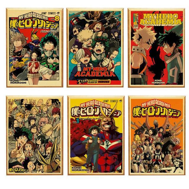 My Hero Academia Anime Retro poster