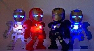 Image 2 - Portable Mini Speaker Iron Man Bluetooth Wireless Speakers with LED Flashing Light Stereo Hifi Sound Box TF USB MP3 Player