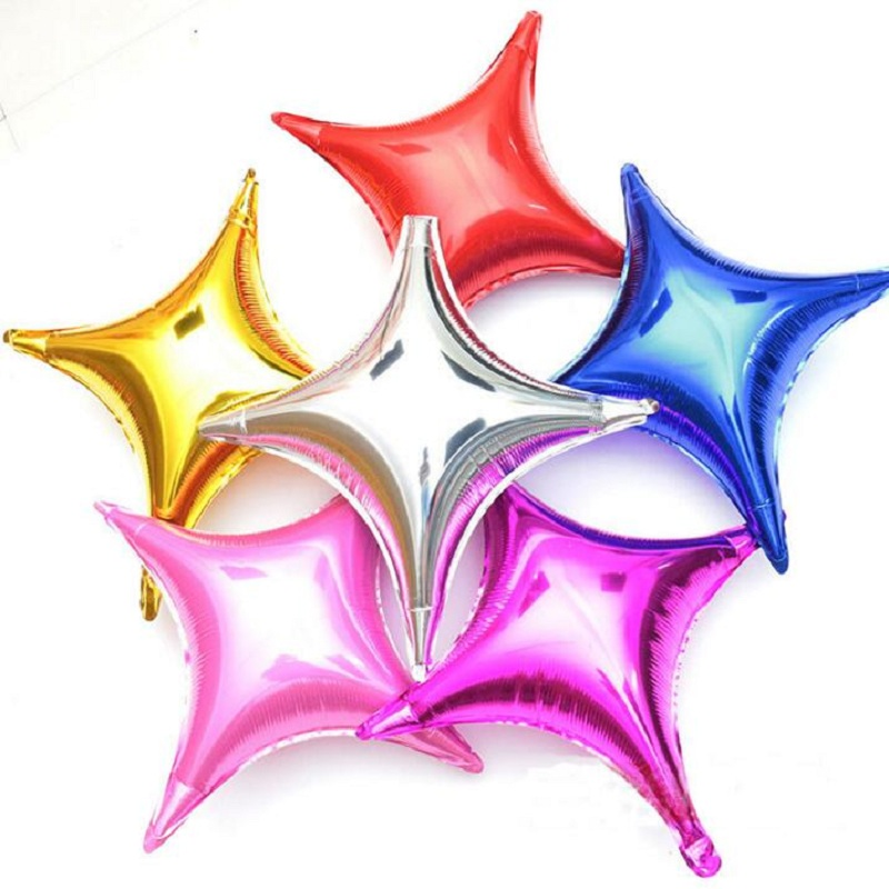 5pcs 65*68CM Four Pointed Sstar Foil Balloons Quadrangular Helium Balloon For Birthday Decoration Balony Globos Tide toys gifts