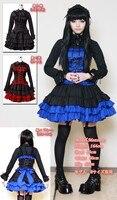 (LLT033) Lolita Dresses Long Sleeveless Sweet Lolita Short Dress Ball Gown Fancy Prom Dress Halloween Party Masquerade Costume