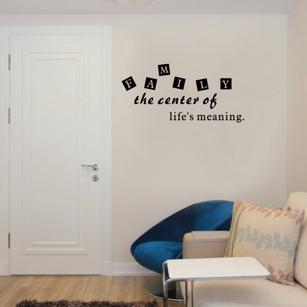 Family the center of life meaning diy quotes art vinyl wall mural family the center of life meaning diy quotes art vinyl wall mural decal stickers for living room decoration in hair clips pins from beauty health on amipublicfo Choice Image