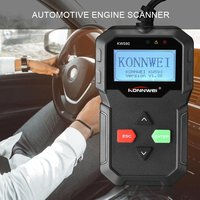 KW590 OBD OBDII Scanner Code Reader Car Diagnostic Scanner Engine Fault Code Reader Detector Multi Language Scan Tool