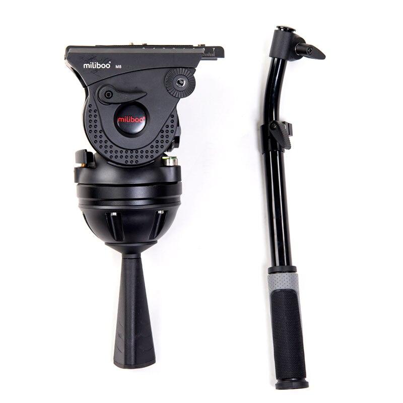 Miliboo M8 вещания для видеосъемки нагрузка 25 кг Алюминиевая, сверхмощная монопод штатив Трипод с панорамной головкой для 100 мм чаша