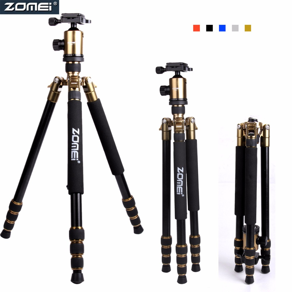 ZOMEI Z888 Stable Aluminium Alloy 4-Section Travel Tripod with Quick Release Ball Head Compatible with Cameras for DSLR FREE DHL