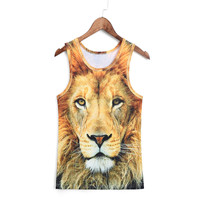 Gym Clothes Men Gym Clothing Muscle Sleeveless Tee Shirt Animal Tank Top T Shirt Bodybuilding Sport