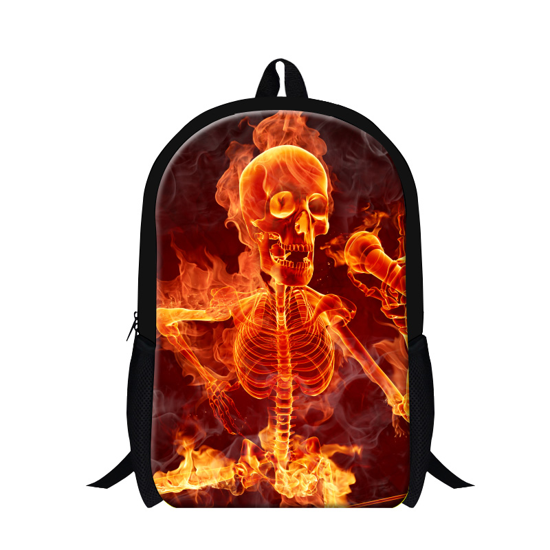 Personalized Skull Backpacks for Teen Boys Cool School Bags for High Class Students Fashion Lightweight Bookbags Girls Back Pack