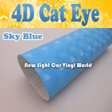 High Quality Blue 4D Cat Eye Car Film For Car Decoration Air Bubble Free Size: 1.52*30M/Roll